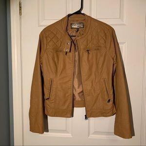Ci Sono tan faux leather (pleather) jacket